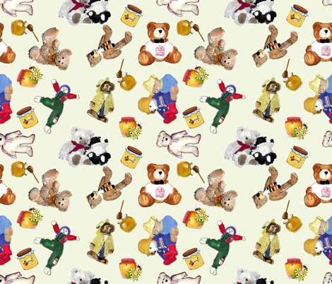 Even Vintage Bears like Honey. fabric by koalalady on Spoonflower - custom fabric