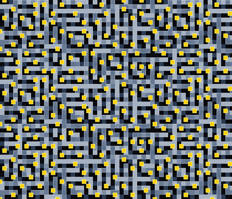 Cypher Spaceblock fabric by spellstone on Spoonflower - custom fabric