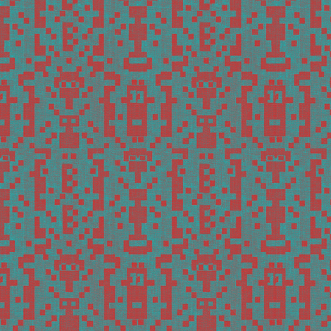 B-botz - red and slate blue in a casual canvas look. fabric by materialsgirl on Spoonflower - custom fabric