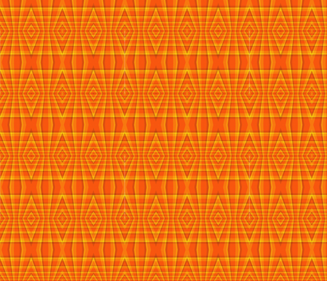 Orange_Geometric_Diamonds_Seamless fabric by bluewrendesigns on Spoonflower - custom fabric