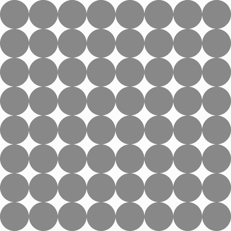 Grey Dot fabric by noochesfabric on Spoonflower - custom fabric