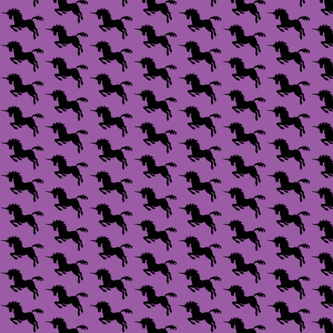 Purple Unicorn  fabric by sufficiency on Spoonflower - custom fabric
