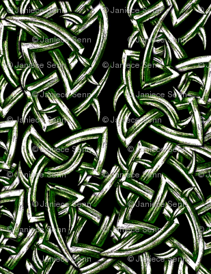 Tied In Knots sketchy green
