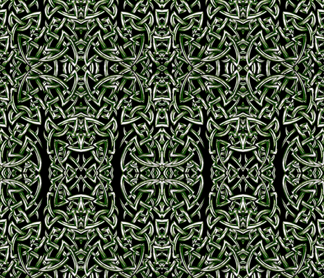 Tied In Knots sketchy green fabric by whimzwhirled on Spoonflower - custom fabric