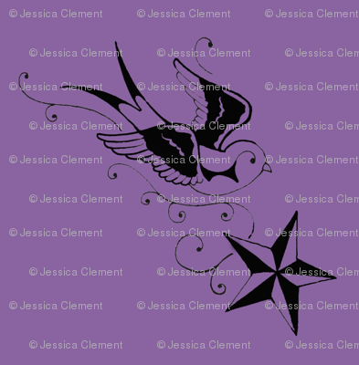 Soaring Swallow with Nautical Star