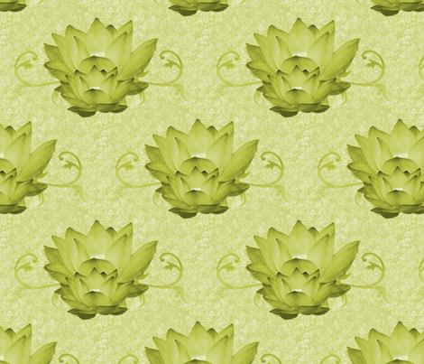 Waterlily2 fabric by hmilwicz on Spoonflower - custom fabric