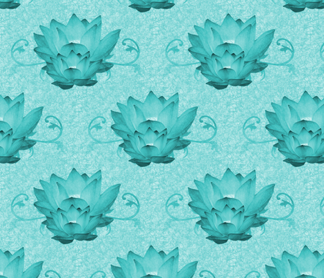 Waterlily5 fabric by hmilwicz on Spoonflower - custom fabric