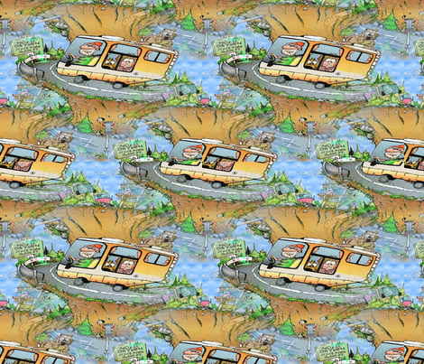 highway9 fabric by hmilwicz on Spoonflower - custom fabric