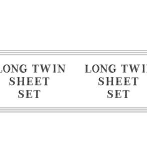 Long twin sheet set linen closet storage bag