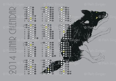 2014 Lunar Tea Towel Calendar