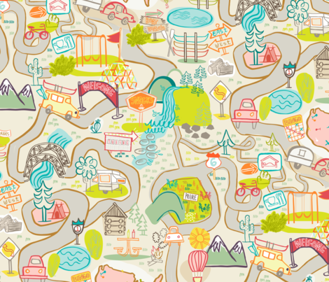 Road Trip!  fabric by gsonge on Spoonflower - custom fabric