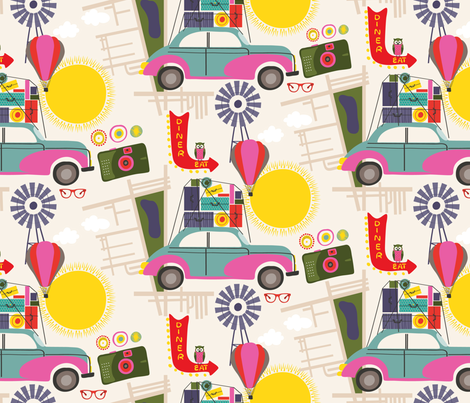 Road Trip fabric by pragya_k on Spoonflower - custom fabric