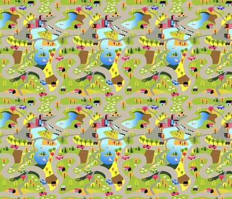 Countryside Highways fabric by vinpauld on Spoonflower - custom fabric