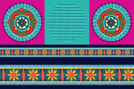 Stripey/Mandala pillow fabric fabric by mcuetara on Spoonflower - custom fabric