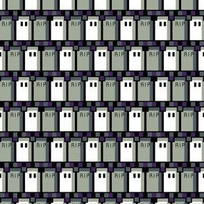 Pixel Graveyard Zigzag Mini