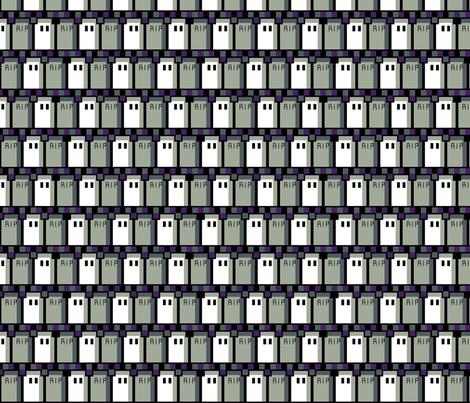Pixel Graveyard Zigzag fabric by modgeek on Spoonflower - custom fabric