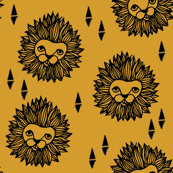 lion // lion head mustard yellow gold boys kids safari zoo
