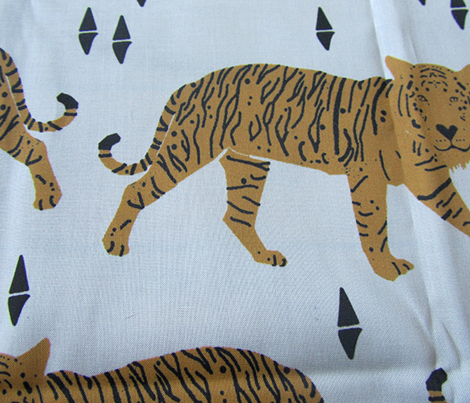Tiger fabric // nursery baby andrea lauren design