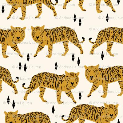 Tiger fabric // nursery baby andrea lauren design