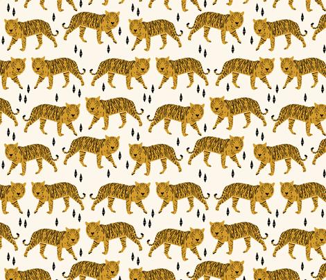 Tiger fabric // nursery baby andrea lauren design  fabric by andrea_lauren on Spoonflower - custom fabric