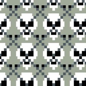 Pixel Ghost Skull Argyle
