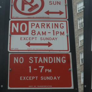 Parking warning