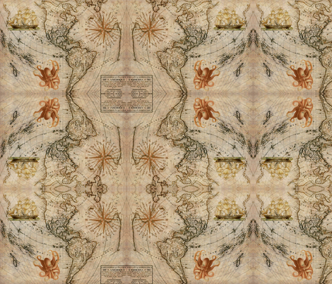 The Voyage fabric by firedryad1 on Spoonflower - custom fabric