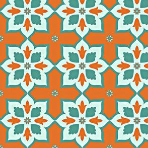 Orange star-