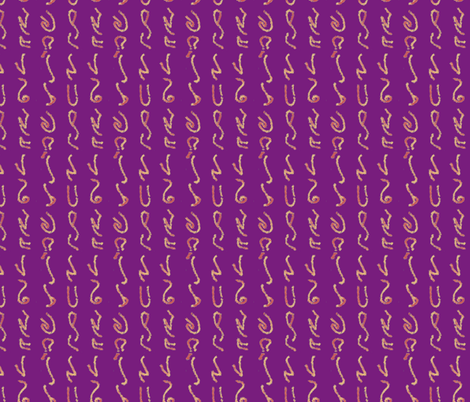 Orange Glyphs on Magenta fabric by craftalife on Spoonflower - custom fabric