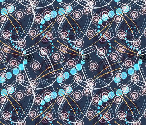 Catching Fireflies fabric by slumbermonkey on Spoonflower - custom fabric