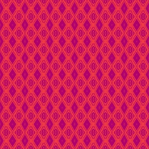Diamond Ikat Red/Dark Red