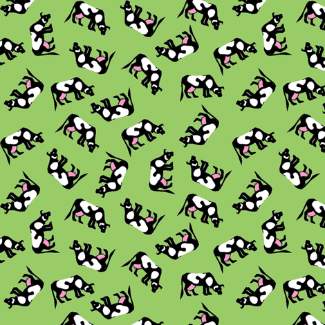 Heard of cows?! fabric by moirarae on Spoonflower - custom fabric