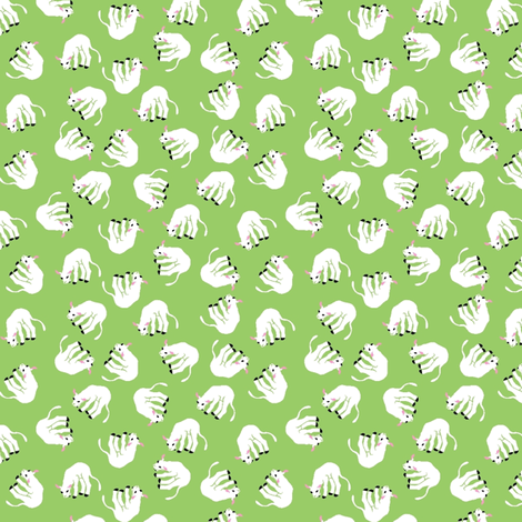 Flocked sheep! fabric by moirarae on Spoonflower - custom fabric