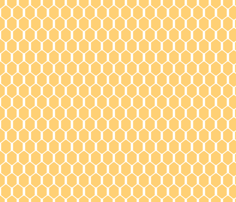 Gold Hex  fabric by pond_ripple on Spoonflower - custom fabric