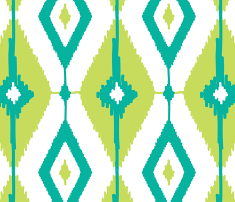 Geometric ikat diamonds fabric by oksancia on Spoonflower - custom fabric