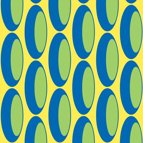 Retro grain, Yellow/blue