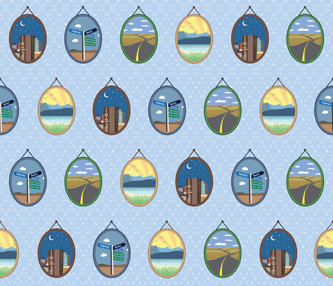 Memories from the road fabric by garviek on Spoonflower - custom fabric
