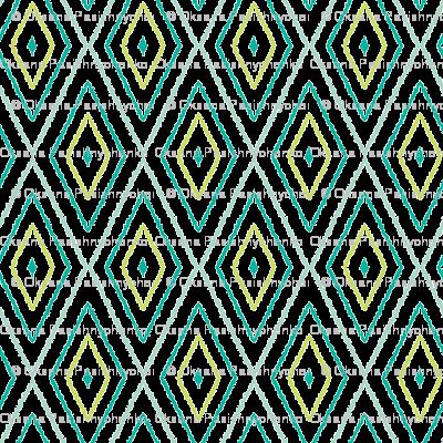 Textured ikat diamonds