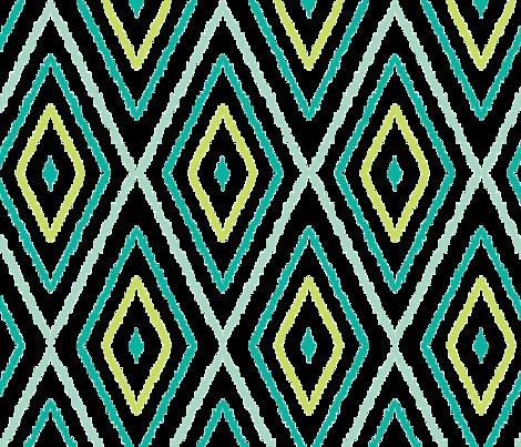 Textured ikat diamonds fabric by oksancia on Spoonflower - custom fabric