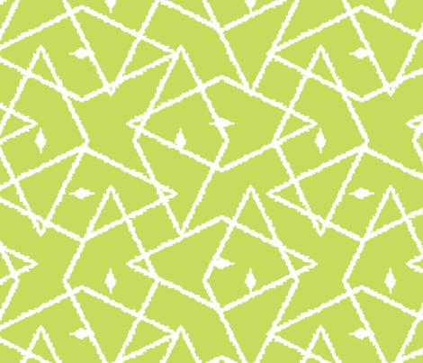 Light Green ikat diamonds fabric by oksancia on Spoonflower - custom fabric