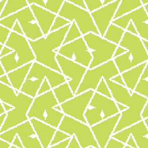 Light Green ikat diamonds