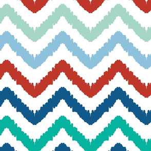 Colorful ikat chevron