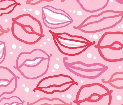 Smiles and kisses fabric by oksancia on Spoonflower - custom fabric