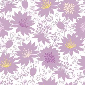 Purple shadow florals