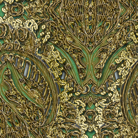Undersea FantasyWood & Illusion of Gold 2 fabric by eclectic_house on Spoonflower - custom fabric