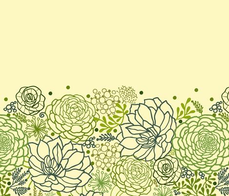 Succulents matching border fabric by oksancia on Spoonflower - custom fabric