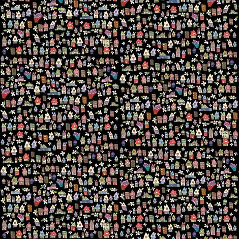 Rocky houses fabric by catru on Spoonflower - custom fabric