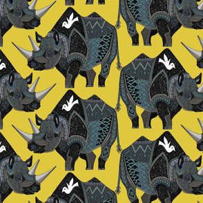 rhinoceros yellow