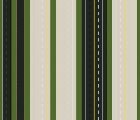 highways and byways awning stripe fabric by victorialasher on Spoonflower - custom fabric