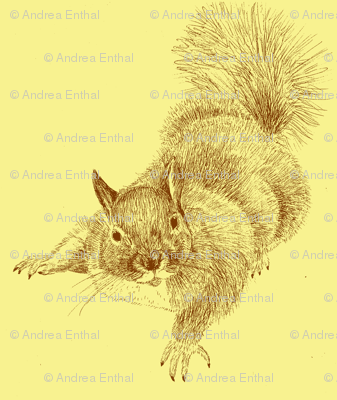 Nuts About You (large scale, sepia)